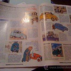 Cómics: 'LOS COCHES DE TINTÍN'. ARTÍCULO DE PRENSA.. Lote 21912220