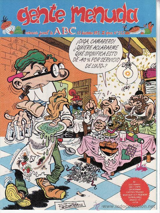 ......GENTE MENUDA SEMANARIO JUVENIL DE ABC III EPOCA Nº 213 (Tebeos y Comics - Suplementos de Prensa)