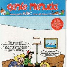 Cómics: ......GENTE MENUDA SEMANARIO JUVENIL DE ABC III EPOCA Nº 279. Lote 23128150