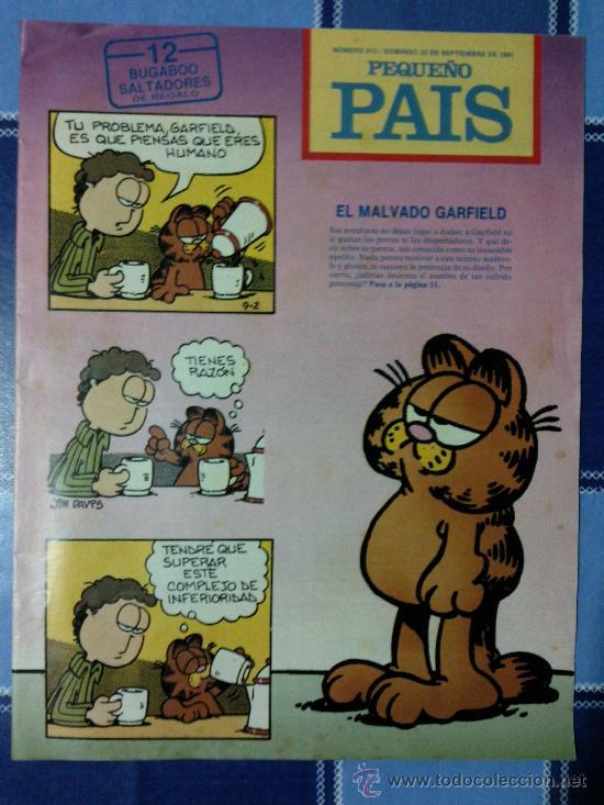 COMIC PEQUEÑO PAIS - NUM. 512 AÑO 1991 - EL MALVADO GARFIELD (Tebeos y Comics - Suplementos de Prensa)