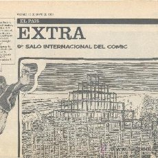 Cómics: PAÍS EXTRA 10-05-1991 9º SALÓN INTERNACIONAL DEL CÓMIC, EL . Lote 35457378