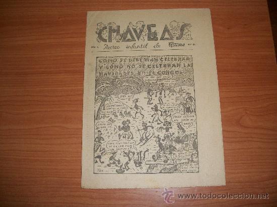 SEMANARIO CHAVEAS SUPLEMENTO DE LA TARDE DE MÁLAGA, 1943 (Tebeos y Comics - Suplementos de Prensa)