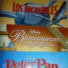 Cómics: BIBLIOTECA INFANTIL EL MUNDO. BLANCANIEVES, PETER PAN, LOS INCREIBLES. Lote 38449390