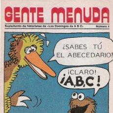 Cómics: GENTE MENUDA Nº5 (SUPLEMENTO ABC) CON HISTORIAS DE FLAS GORDON INCLUYE POSTER DE EPI Y BLAS. Lote 39134438