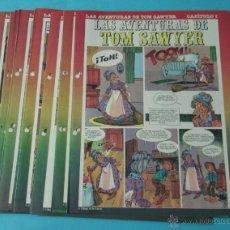 Cómics: LAS AVENTURAS DE TOM SAWYER. CHIQUI DE LA FUENTE. 11 DÍPTICOS DEL PEQUEÑO PAÍS. Lote 39731108