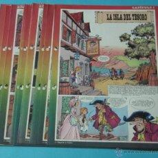 Cómics: LA ISLA DEL TESORO. CHIQUI DE LA FUENTE. 11 DÍPTICOS DEL PEQUEÑO PAÍS. Lote 39731164