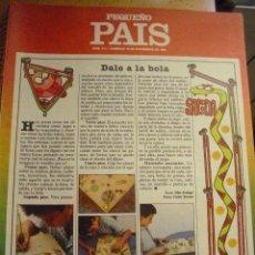 Cómics: PEQUEÑO PAIS Nº 311 (15/11/1987). SUPLEMENTO DOMINICAL. Lote 39754030