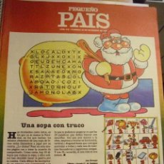 Cómics: PEQUEÑO PAIS Nº 316 (20/12/1987). SUPLEMENTO DOMINICAL. Lote 39754291