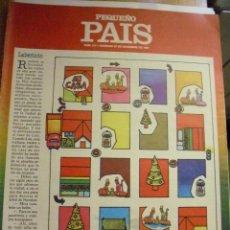 Cómics: PEQUEÑO PAIS Nº 317 (27/12/1987). SUPLEMENTO DOMINICAL. Lote 39754404