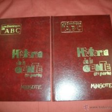 Cómics: HISTORIA DE LA GENTE. ANTONIO MINGOTE. TOMO I Y II ABC Y CÍRCULO DE LECTORES. Lote 39971227