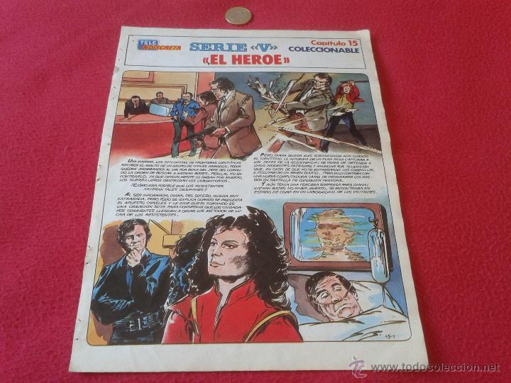 COLECCIONABLE SERIE V LOS LAGARTOS REVISTA TELEINDISCRETA CAPITULO 15 EL HEROE ESCASO Y DIFICIL (Tebeos y Comics - Suplementos de Prensa)