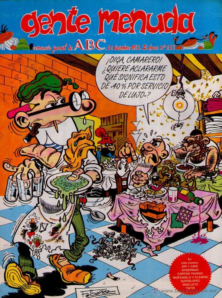 GENTE MENUDA Nº 213 ** 12/12/1993 ** SUPLEMENTO DEL ABC (Tebeos y Comics - Suplementos de Prensa)