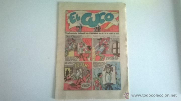 EL CUCO, SUPLEMENTO INFANTIL DEL DIARIO PUEBLO, 14 DE OCTUBRE DE 1972 (Tebeos y Comics - Suplementos de Prensa)