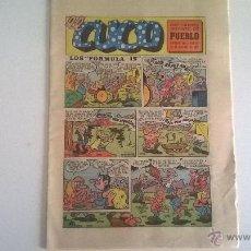 Cómics: EL CUCO, SUPLEMENTO INFANTIL DEL DIARIO PUEBLO, 21 DE OCTUBRE DE 1972. Lote 49360375