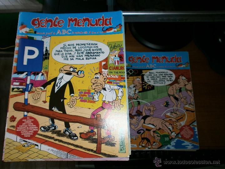 Cómics: LOTE 333 EJEMPLARES GENTE MENUDA - SEMANARIO JUVENIL DE ABC - III EPOCA - DE 1989 A 1998. - Foto 3 - 50341632