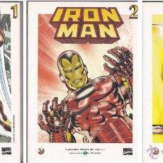 Cómics: IRON MAN (LOTE 3 TÍTULOS). GRANDES HÉROES DEL CÓMIC (EL MUNDO). Lote 51784626