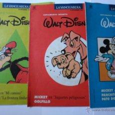 Cómics: LOTE DE 3 SUPLEMENTO INFANTIL - WALT DISNEY - LA VANGUARDIA - AÑO 1990. Lote 52811077