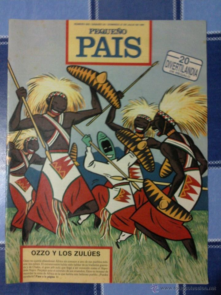 COMIC PEQUEÑO PAIS - NUM. 503 AÑO 1991 - OZZO Y LOS ZULÚES (Tebeos y Comics - Suplementos de Prensa)