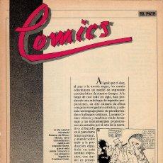 Cómics: COMICS, CLASICOS Y MODERNOS - FASCÍCULO Nº 1 EL PAÍS. Lote 53816542