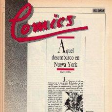 Cómics: COMICS, CLASICOS Y MODERNOS - FASCÍCULO Nº 19 EL PAÍS. Lote 53816615
