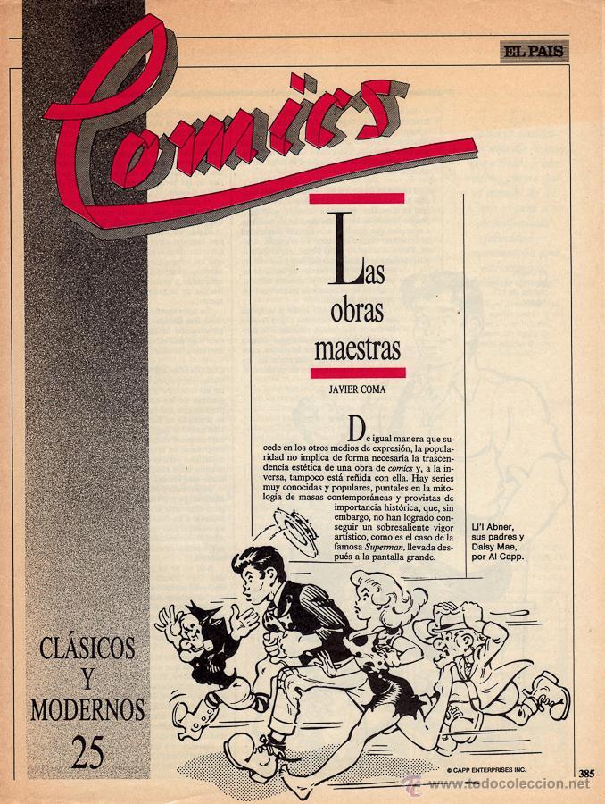 COMICS, CLASICOS Y MODERNOS - FASCÍCULO Nº 25 EL PAÍS (Tebeos y Comics - Suplementos de Prensa)