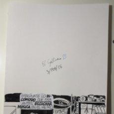 Cómics: DIBUJO ORIGINAL DE ALBERT PALLARES PUBLICADO EN EL MUNDO. Lote 54040039