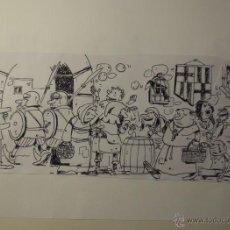 Cómics: DIBUJO ORIGINAL ALBERT PALLARES PUBLICADO EN EL MUNDO. Lote 54040203