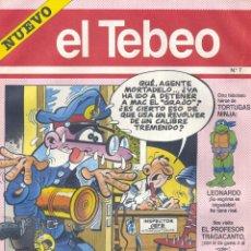 Cómics: EL TEBEO Nº7. PROFESOR TRAGACANTO, MORTADELO Y FILEMÓN,TORTUGAS NINJA, TINIEBLO LALOSA.... Lote 54083489