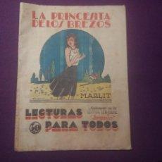 Cómics: LA PRINCESA DE LOS BREZOS. LECTURAS PARA TODOS. Lote 54291459
