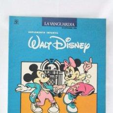 Cómics: CÓMIC / SUPLEMENTO INFANTIL - MICKEY / PATO DONALD - WALT DISNEY Nº 9 - LA VANGUARDIA, AÑO 1990. Lote 54815031