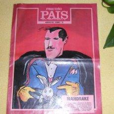 Cómics: SUPLEMENTO DOMINICAL PEQUEÑO PAÍS, N 375 5 DE FEBRERO 1989 MANDRAKE EN PORTADA HÉROES DEL COMIC N 6. Lote 56333216