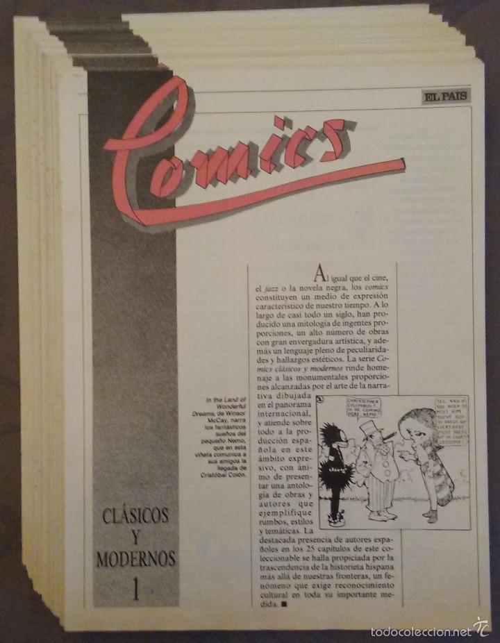 COMICS CLÁSICOS Y MODERNOS, 25 FASCÍCULOS EL PÁIS, 1987. FALTA UNO. COMIC (Tebeos y Comics - Suplementos de Prensa)