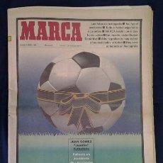 Cómics: DIARIO MARCA AÑO 1992, ACCIDENTE DEL JUGADOR DEL REAL MADRID, JUANITO. Lote 142768894