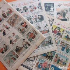 Cómics: LA PAGINA COMICA DE LINAGE - AÑO 1941-44-46 - 4 HOJAS - ARGENTINA. Lote 67114565