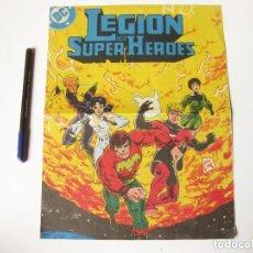 Cómics: CARTEL LEGIÓN DE SUPER HEROES.. Lote 73617427