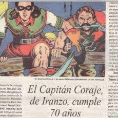 Cómics: TEBEOS Y COMICS EN LAPRENSA: CAPITAN CORAJE, PACO ROCA, ALTARRIBA, FLASH GORDON, CARLOS GIMENEZ...... Lote 76047443