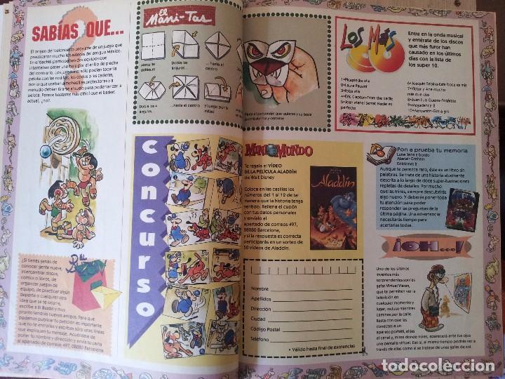 Cómics: MINIMUNDO - SEMANARIO JUVENIL DE EL MUNDO - 2 TOMOS ENCUADERNADOS DE 54 NÚMEROS DE 1994/1995 - Foto 12 - 80134161