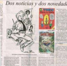 Cómics: TEBEOS Y COMICS EN LA PRENSA: CAPITAN TRUENO, JINETE FANTASMA, BEA, CUTO, PUJOL, AZNAR..... Lote 84667680