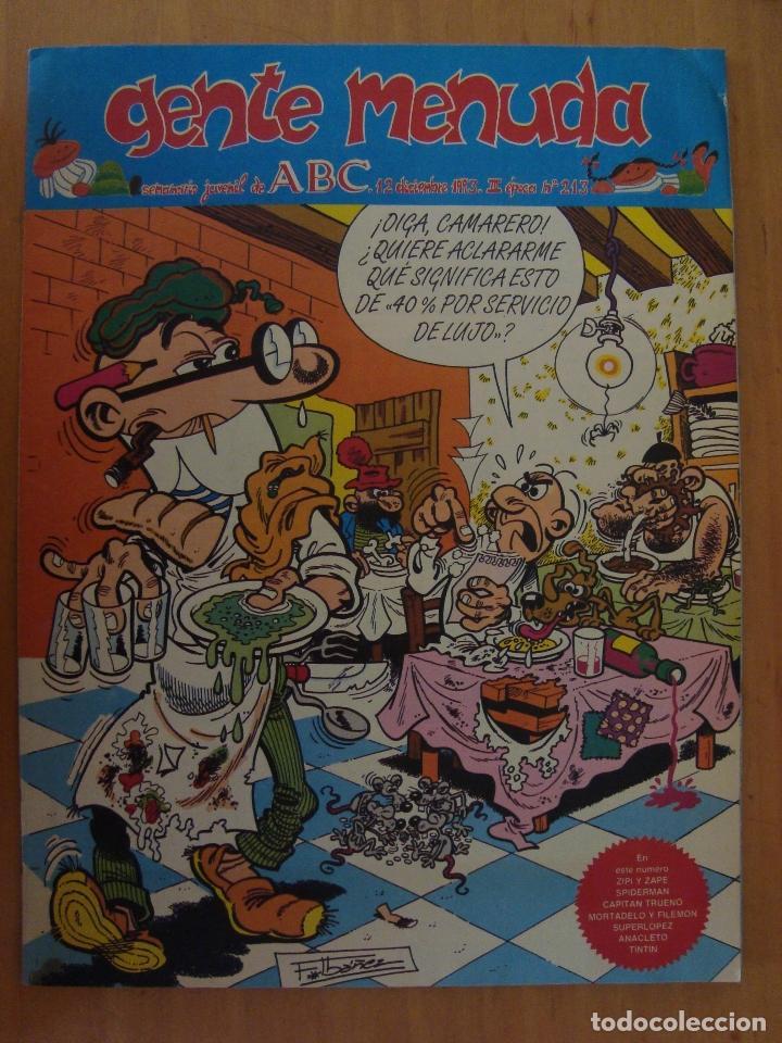 TEBEO GENTE MENIDA Nº 213 (Tebeos y Comics - Suplementos de Prensa)