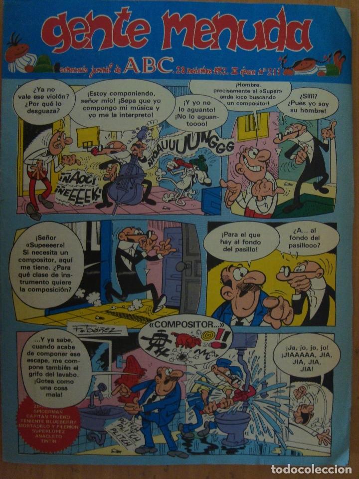 TEBEO GENTE MENUDA Nº 211 (Tebeos y Comics - Suplementos de Prensa)