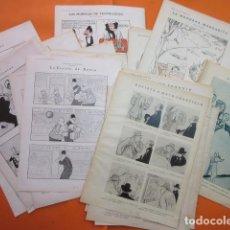 Cómics: LOTE 32 HOJAS AÑOS 1928 Y 1929 POR SILENO XAURADO Y UNA LOPEZ RUBIO . Lote 102501531