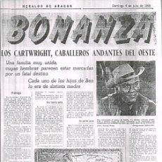 Cómics: AVENTURAS DE BONANZA EN LA PRENSA: HERALDO DE ARAGON, 1965 == BONANZA, LA SERIE DE TV. Lote 104130371