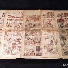 Cómics: LAPICERÍN. SUPLEMENTO INFANTIL DE JORNADA. 5 PRIMEROS NÚMEROS. 3 MAQUETAS. 1954-55. RARISIMOS. Lote 108696919