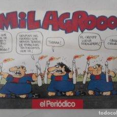 Cómics: COMIC DE OSCAR SOBRE EL F.C. BARCELONA. ¡¡¡MILAGRO!!! EL PERIODICO. LIGA 1992-1993. Lote 126789463