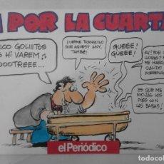 Cómics: COMIC DE OSCAR SOBRE EL F.C. BARCELONA. ¡A POR LA CUARTA! EL PERIODICO. LIGA 1993-1994. Lote 126789867