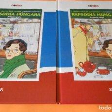 Cómics: RAPSODIA HUNGARA. VITTORIO GIARDINO. TOMOS 1 Y 2. DIARIO EL PAIS. CARTONÉ. BUEN ESTADO. Lote 127301575