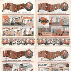 Cómics: LARGUIRUCHO, 3, 4, 7 Y 8 - EL SUPLEMENTO CON COSQUILLAS - REVISTA PETETE, 1983. Lote 137176006