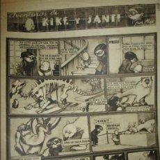 Cómics: ANTIGUO COMIC LAS AVENTURAS DE KIKE Y SANTI TIRAS 2 3 4 5 EN BARCELONA ENERO 1938 GUERRA CIVIL. Lote 137876350