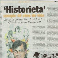 Cómics: TEBEOS Y COMICS EN LA PRENSA: WONDER WOMAN, TBO, PACO ROCA, TINTÍN, MILO MANARA, HEDY LAMARR, IBAÑEZ. Lote 145376386