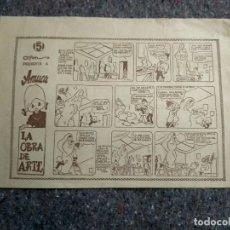 Cómics: AMUCA Nº 5 - LA OBRA DE ARTE - CONTIENE POPEYE, QUIQUE Y FELIPE DE HERGE .... Lote 147282430